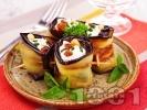 Рецепта Патладжани с майонеза, сирене, стафиди и кашу